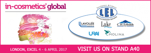 Ricardo Molina en In-Cosmetics 2017 (Londres, 4-6 Abril) STAND: A40