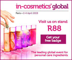 In-Cosmetics Paris 2019