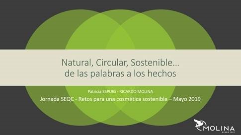 SECQ - Challenges for a sustainable cosmetics - Barcelona, May 21