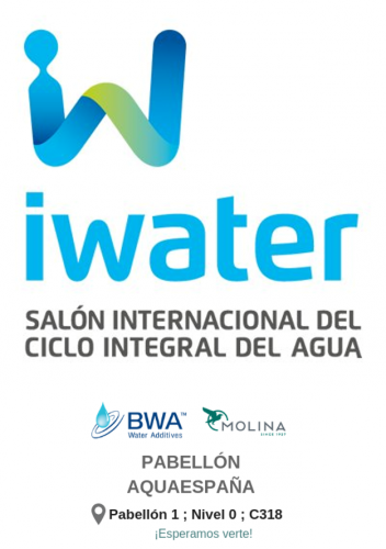 Ricardo Molina at IWATER 2018 (Barcelona, ​​13-15 November) STAND: Hall 1 - level 0 - C318