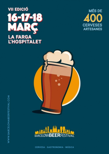 Ricardo Molina at the Barcelona Beer Festival, March 16-18